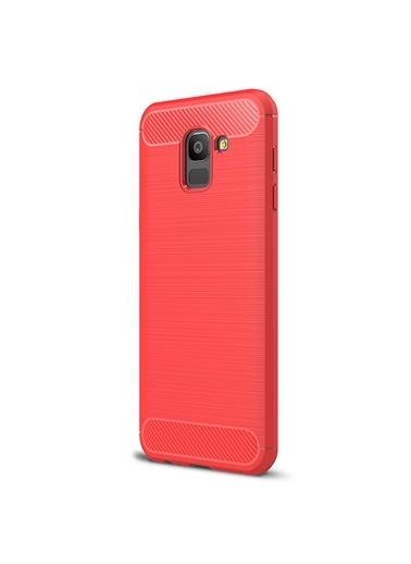 Microsonic Samsung Galaxy J6 Kılıf Room Silikon Kırmızı Kırmızı